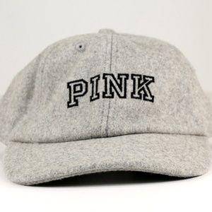 Victoria's Secret PINK Hat Wool Gray JJ16